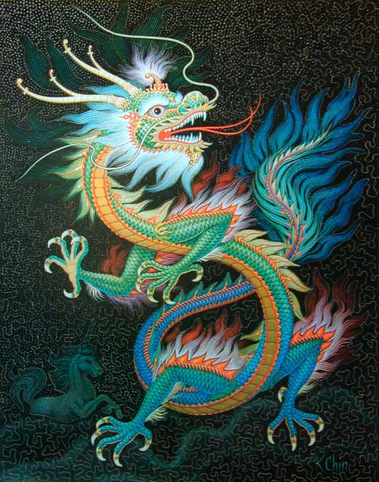 Colorful Dragon, a Picture of a Puzzel, Pinnacle of the draco, Snake of the jews